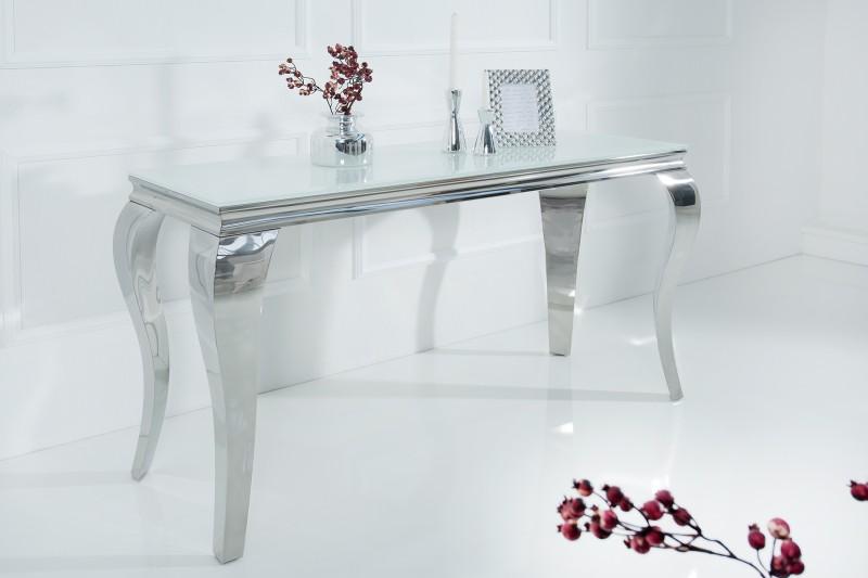 Barok Witte Sidetable.Cong Sidetable Barokstijl Wit Zilver 140cm